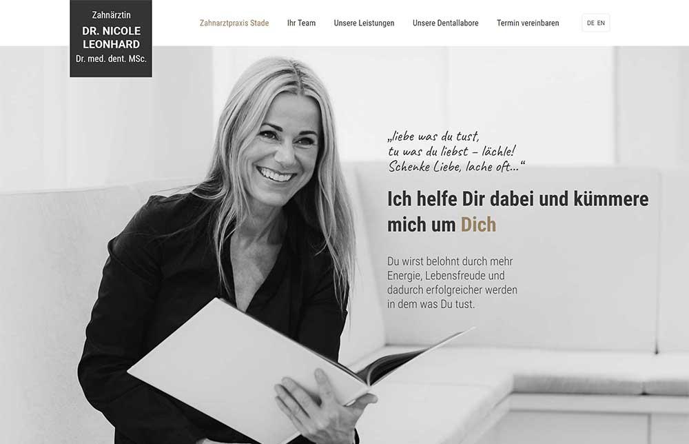 Neue Webseite Dr. Nicole Leonhard - Zahnärztin Stade